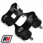 Racinglines Black Aluminium Fuel Pump Holder Mounting Bracket Kit RL-43